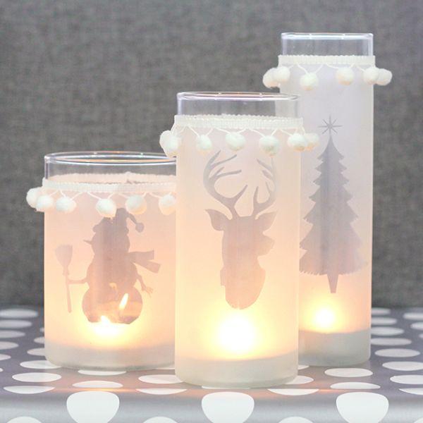 Este porta-velas para o Natal pode ter o desenho que você preferir (Foto: visualmeringue.blogspot.ca)