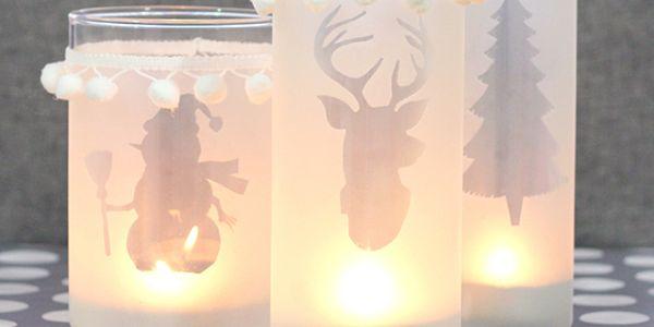 Porta-Velas para o Natal Passo a Passo com Molde