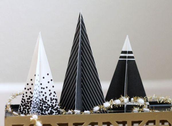 Árvore de Natal de papel 3D é linda e você vai querer fazer todos os modelos (Foto: persialou.com)