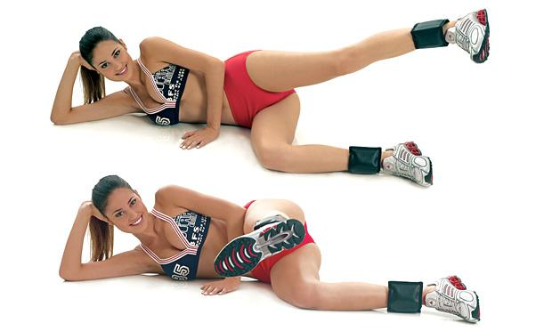 Exercícios para glúteos e pernas com caneleiras também auxiliam na perda de peso (Foto: mdemulher.abril.com.br)