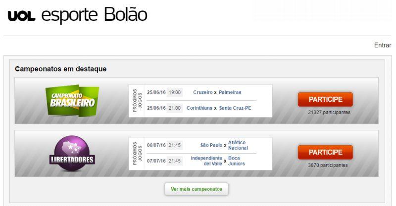 Bolão UOL Esporte 2016