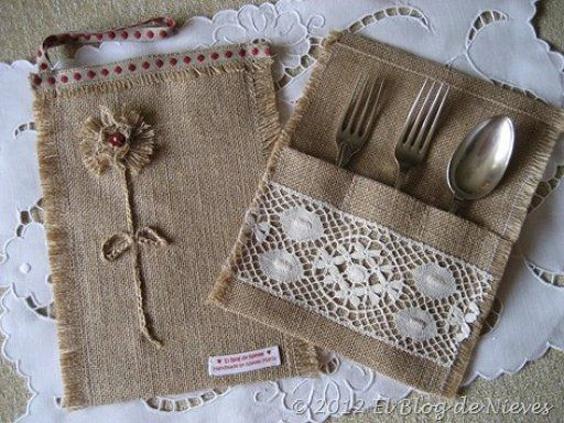 16 ideias de artesanatos com saco de estopa for Bordados personalizados madrid