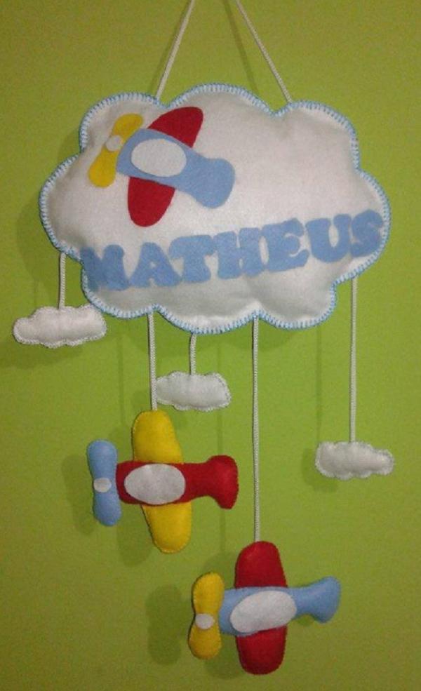Dicas de Artesanatos com Feltro para Quarto de Bebê