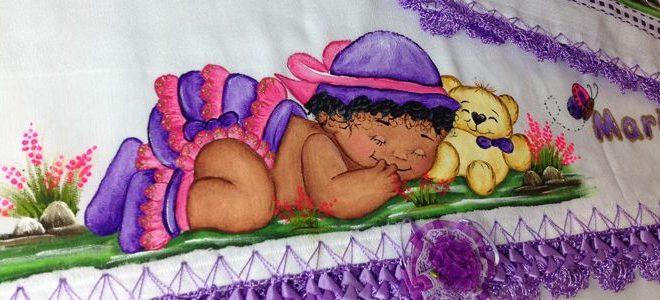20 Imagens de Pintura em Tecido para Bebê