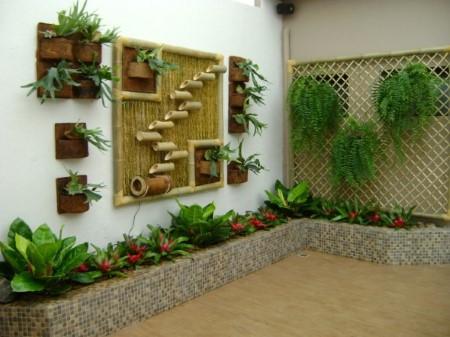 como fazer artesanato de bambu para jardim