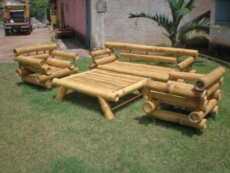 ideias para fazer artesanato de bambu para jardim