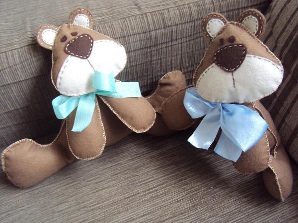 almofadas de ursinhos