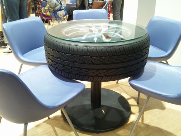 mesa de pneu simples