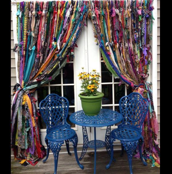 cortina de fitas