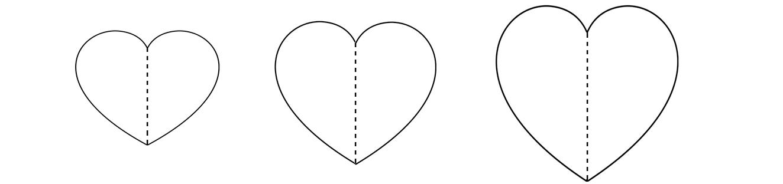 coração para artesanato de papel