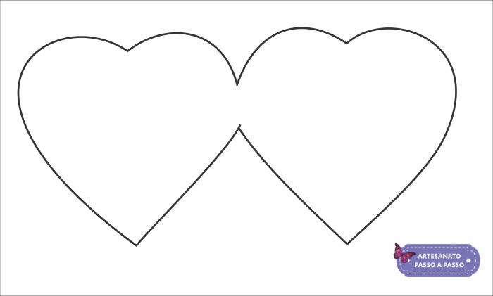 molde de coração duplo