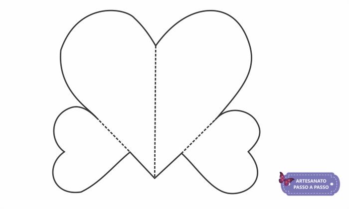 molde de coração que abre