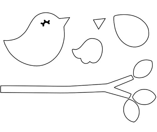 modelo de molde de passarinho