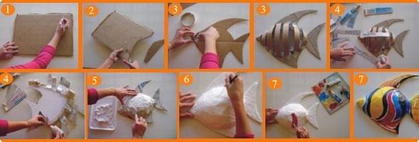 escultura de papel de peixe