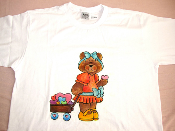 camiseta com ursinha