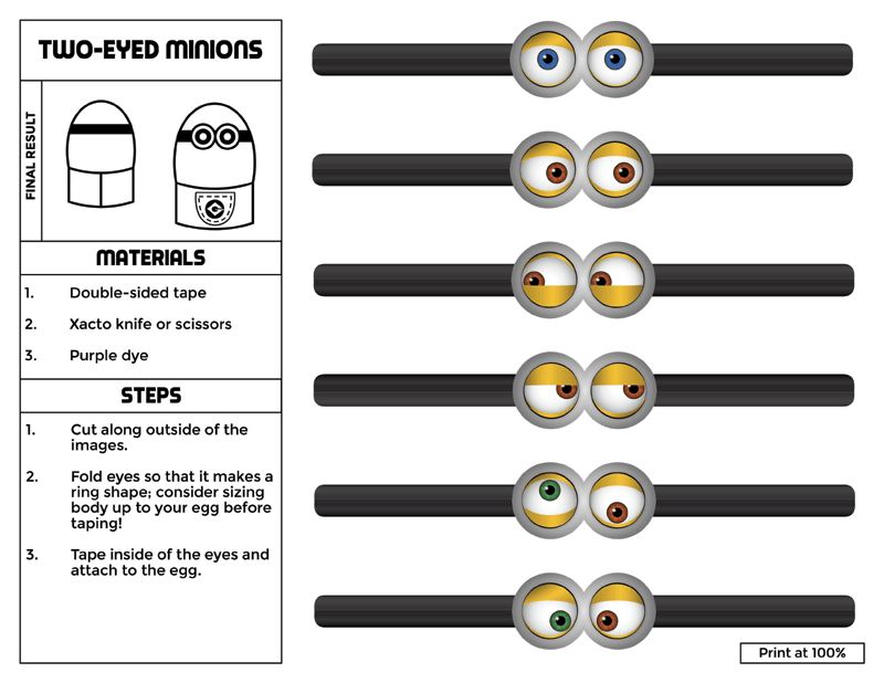 Minions olhos festa