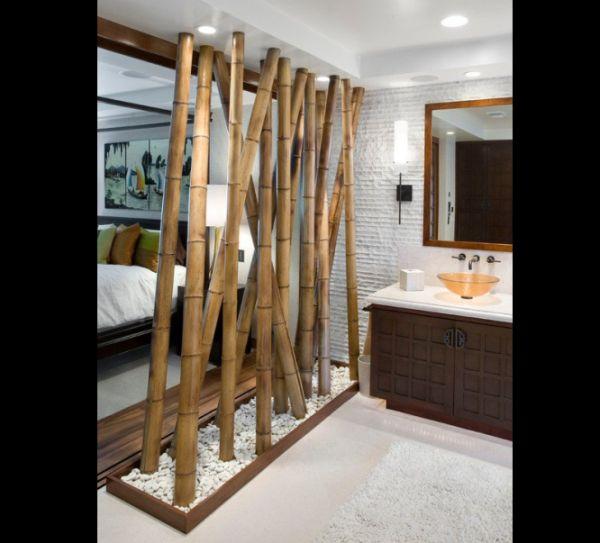 divisória de bambu