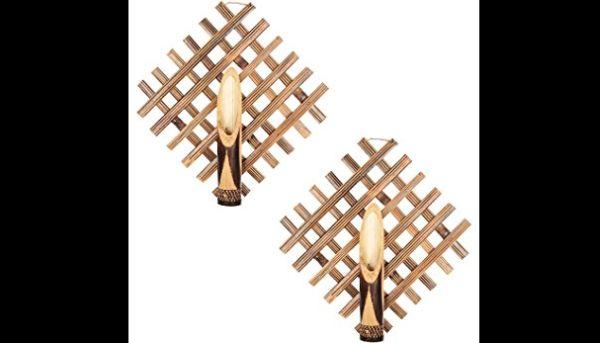 enfeite de parede de bambu