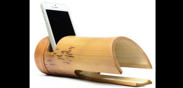 porta celular de bambu