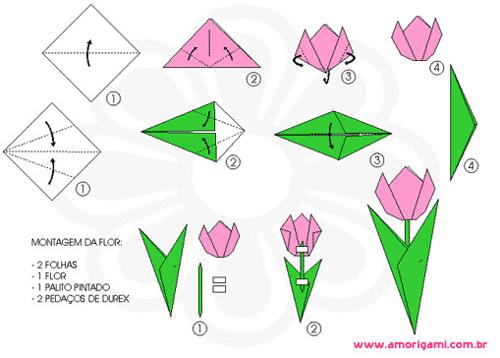 origami tulipa
