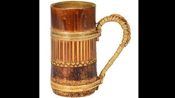 caneca de bambu