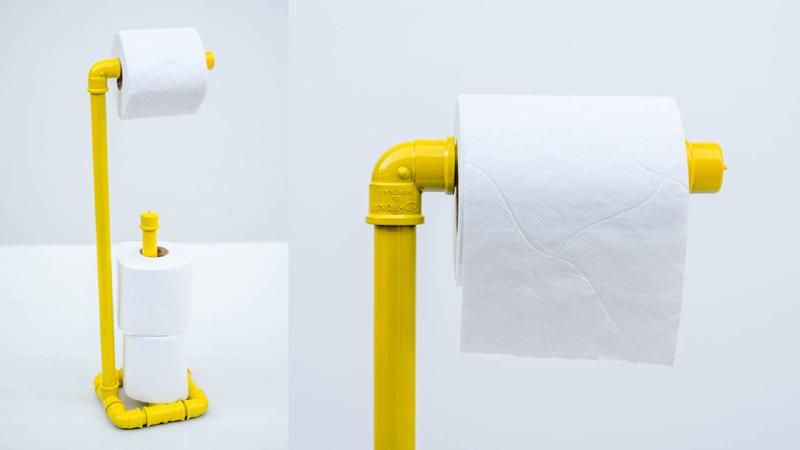 porta papel higienico com cano