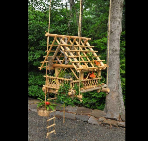 casinha de bambu