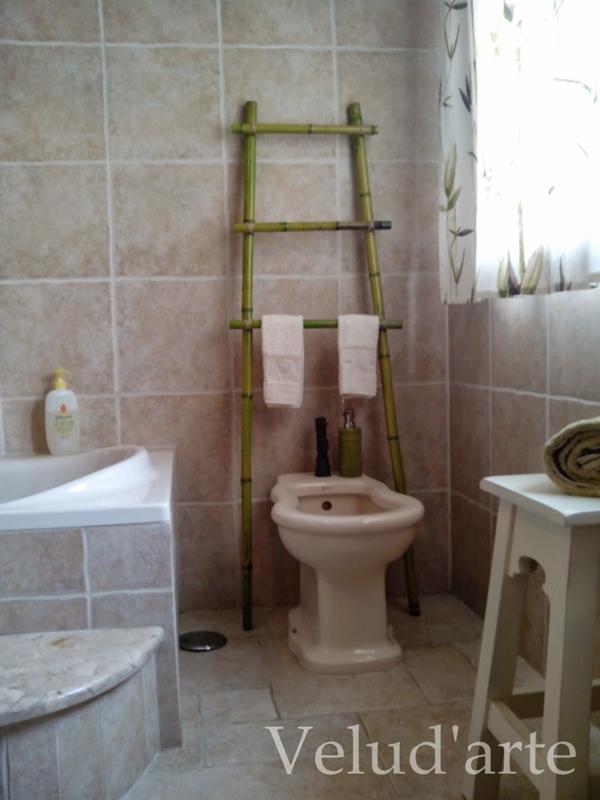 toalheiro de bambu
