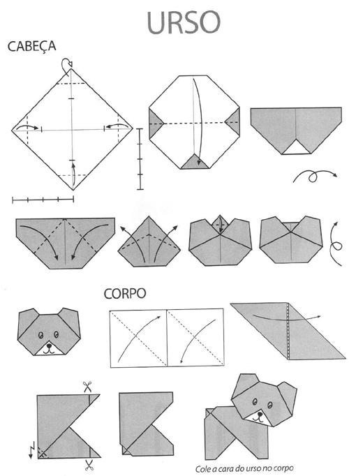 origami ursinho
