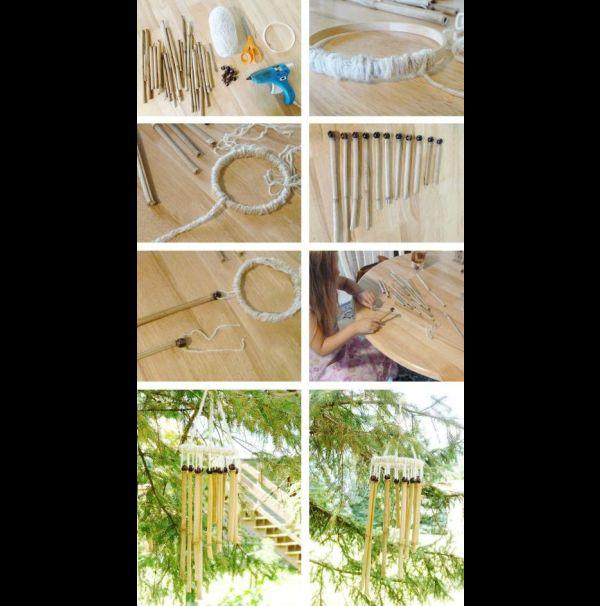 mobile de bambu