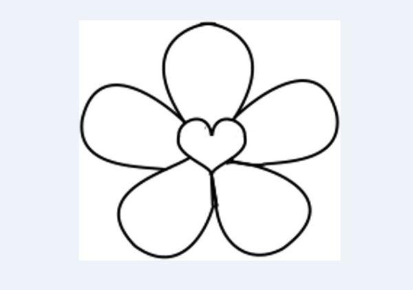 molde de flor coração