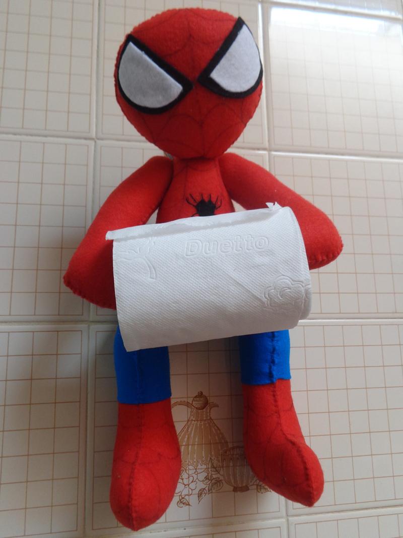porta papel higienico homem aranha