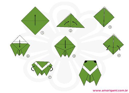 origami sapo