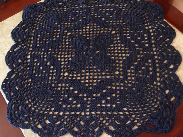 tapete croche azul