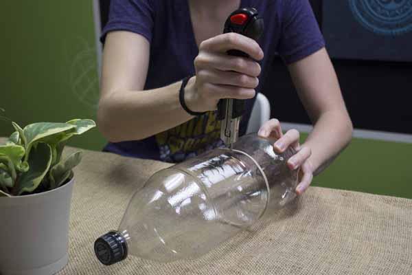 minijardim com garrafa