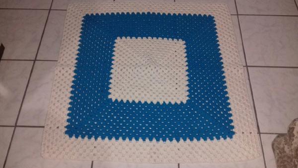 tapete croche quadrado