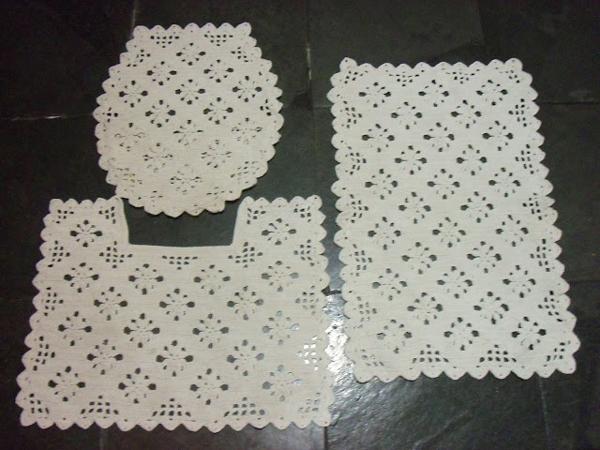 tapete croche para banheiro