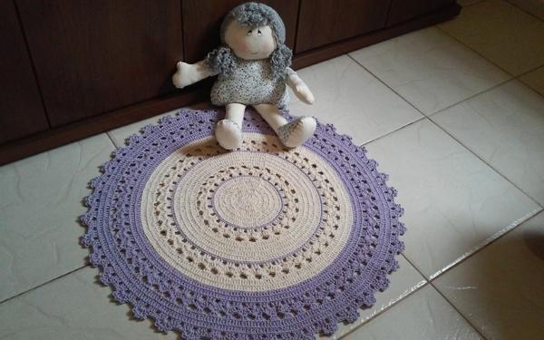 tapete croche lilás
