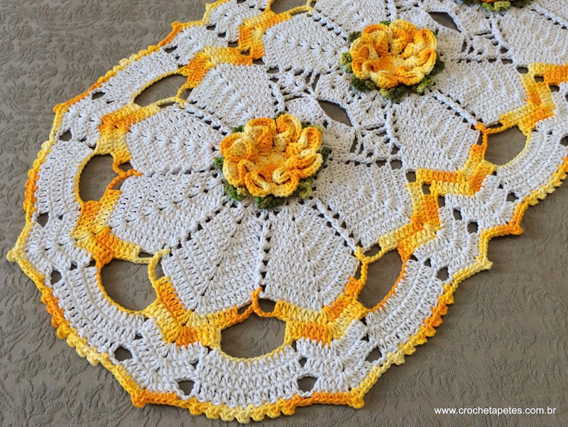 flor de croche laranja