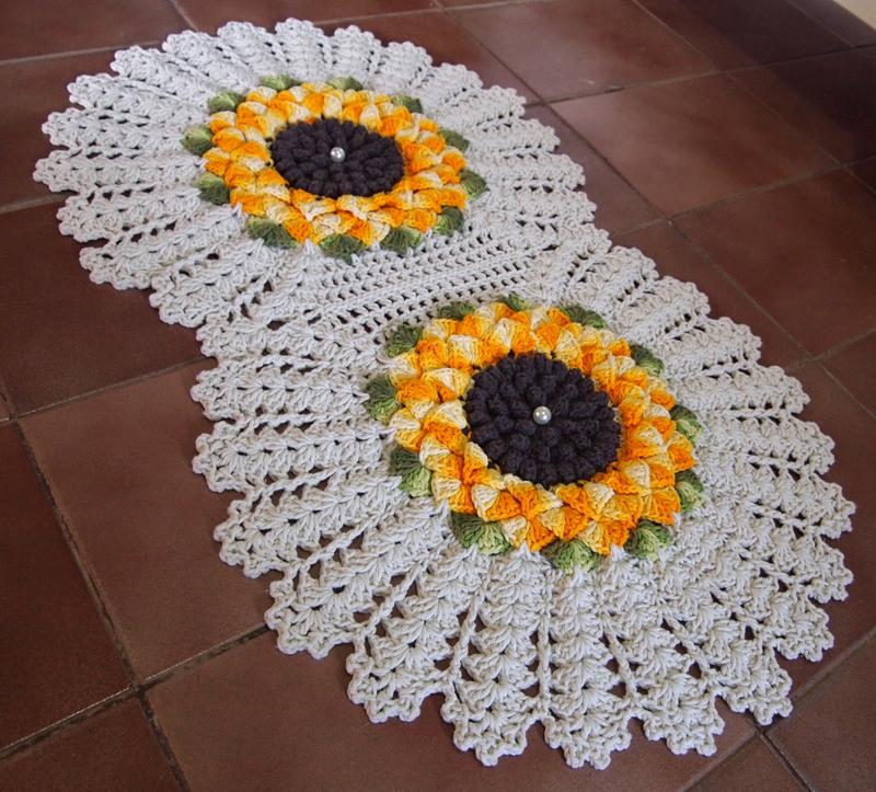flor de croche girassol