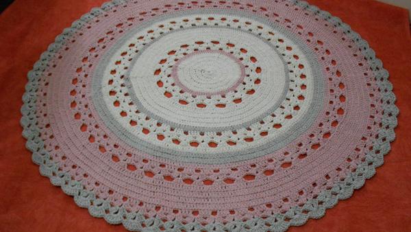 tapete croche colorido