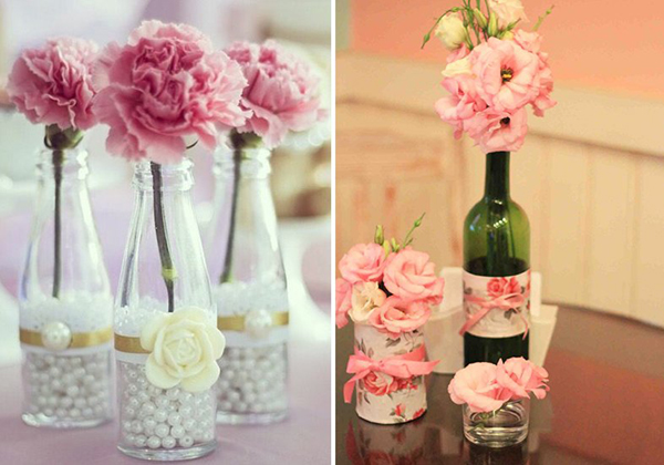 garrafa de vidro para casamento
