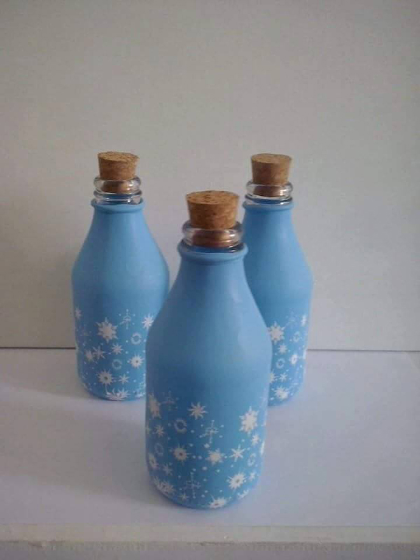 garrafa de vidro com rolha
