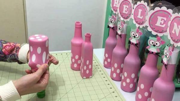 garrafa de vidro com bexiga