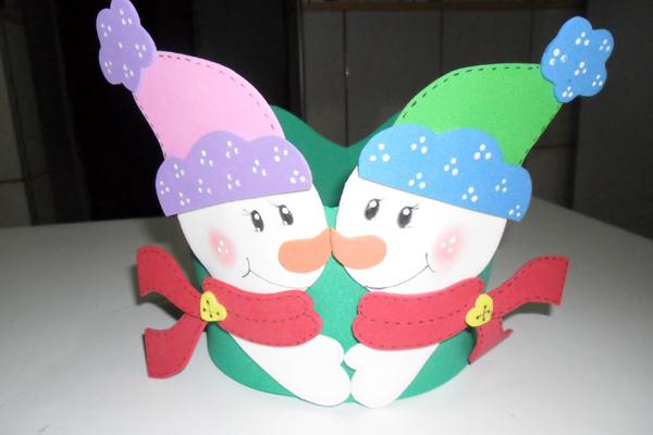 lembrança de natal boneco de neve
