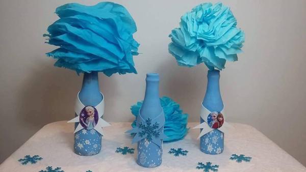 garrafa de vidro da Frozen