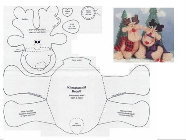 arte para natal 2017 rena