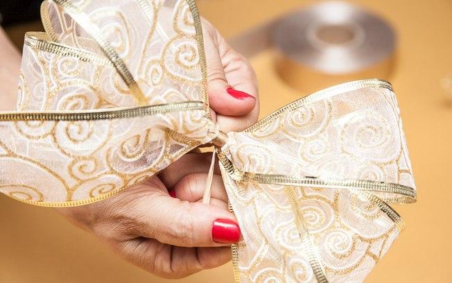 tutorial laço natalino