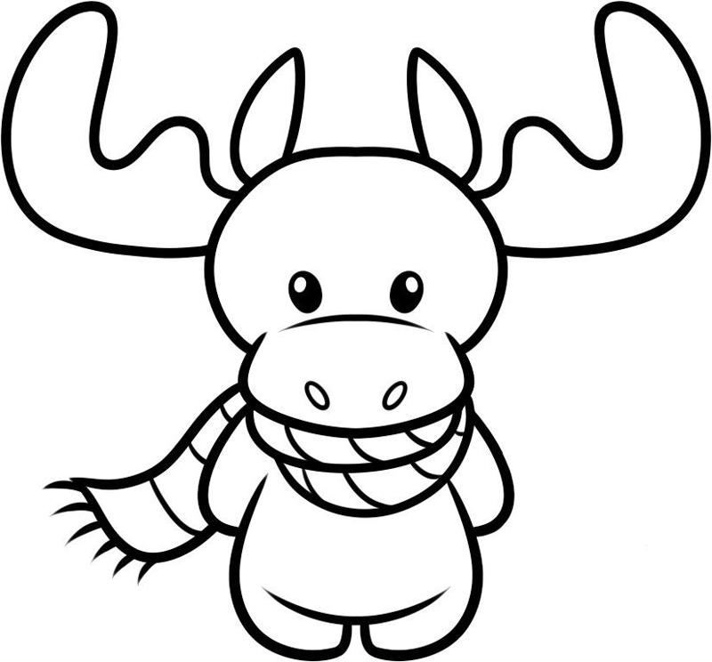 desenho natalino rena