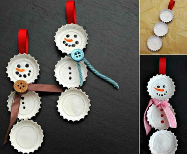 enfeite para Natal boneco de neve